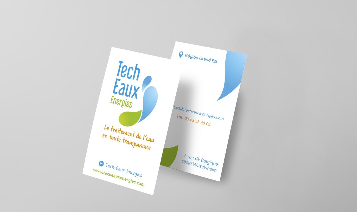 Cartes de visite Tech Eaux Energies