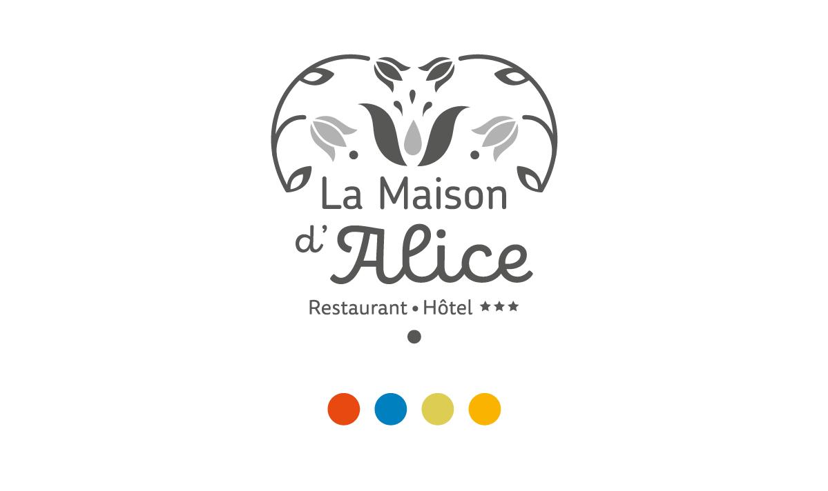 Logo Noir & Blanc La Maison d'Alice