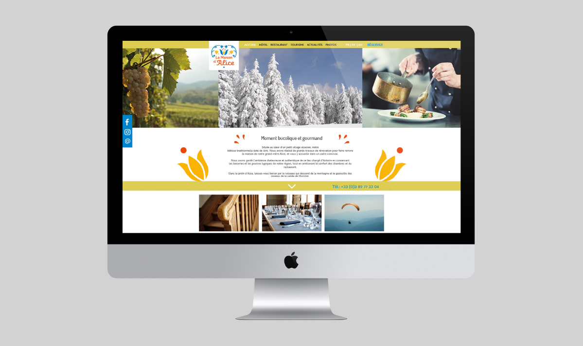 Webdesign La Maison d'Alice